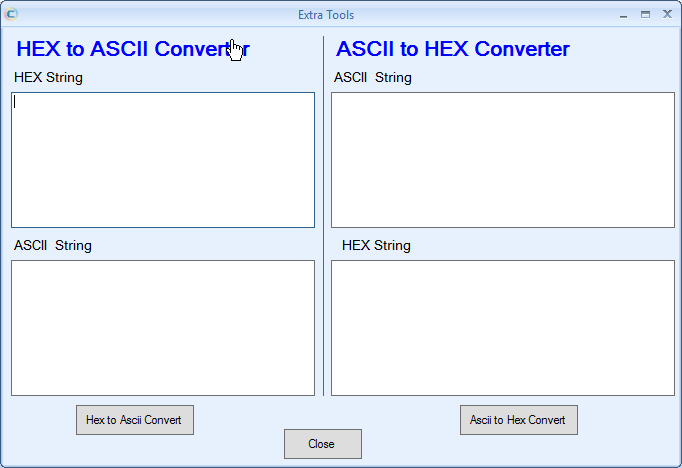 Ascii to Hex Conversion & Hex to ASCII Conversion